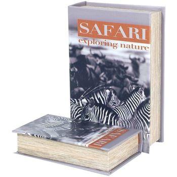 Dom Kovčki in škatle za shranjevanje Signes Grimalt Zebra Safari 2U Škatle Knjig Multicolor