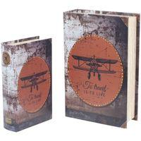 Dom Kovčki in škatle za shranjevanje Signes Grimalt Retro 2U Škatle Knjiga Letala Multicolor