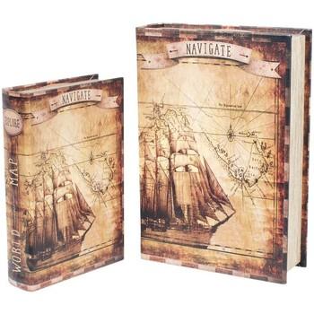 Dom Kovčki in škatle za shranjevanje Signes Grimalt Papir Čoln 2U Škatle V Septembru Marrón