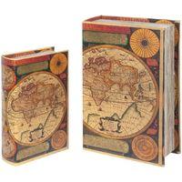 Dom Kovčki in škatle za shranjevanje Signes Grimalt Svetovne Škatle Za Knjige Set 2U Multicolor