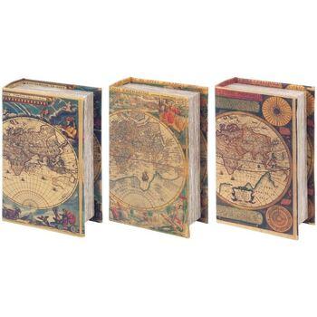 Dom Kovčki in škatle za shranjevanje Signes Grimalt Knjiga 3 Dif Škatle. Svetovna Multicolor
