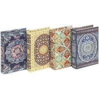 Dom Kovčki in škatle za shranjevanje Signes Grimalt Škatle Za Knjige Mandala Set 4U Multicolor