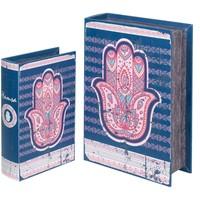 Dom Kovčki in škatle za shranjevanje Signes Grimalt Fatima 2U Škatle Za Roke Knjige Azul