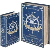 Dom Kovčki in škatle za shranjevanje Signes Grimalt Knjižne Škatle Za Krmilo Set 2U Azul