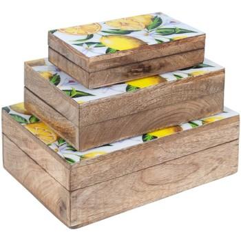 Dom Kovčki in škatle za shranjevanje Signes Grimalt 3 September Škatle Limone Marrón