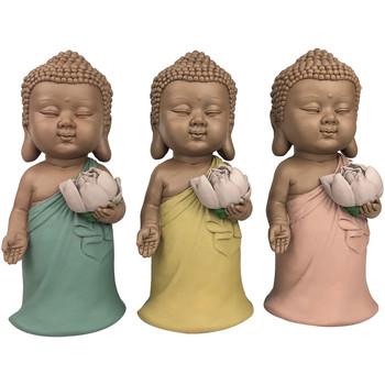 Dom Kipci in figurice Signes Grimalt Linda Buddha Set 3 Enote Multicolor