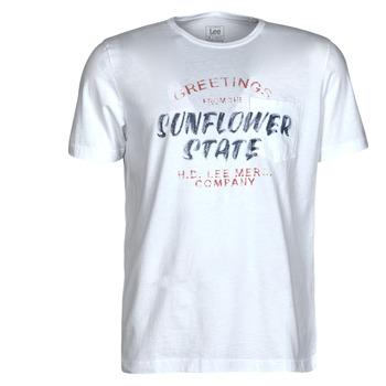 Oblačila Moški Majice s kratkimi rokavi Lee SS POSTER TEE Bela