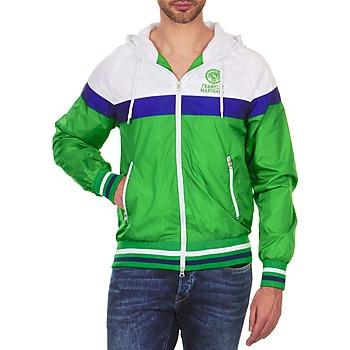 Oblačila Moški Jakne Franklin & Marshall MELBOURNE Zielony / Bela / Niebieski