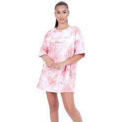 Oblačila Ženske Kratke obleke Sixth June Robe femme  Tie and dye rose