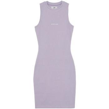 Oblačila Ženske Kratke obleke Sixth June Robe femme  Rib Essential bleu lila