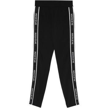 Oblačila Ženske Spodnji deli trenirke  Sixth June Legging  bande imprimée noir/blanc