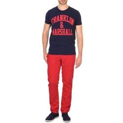Oblačila Moški Hlače Chino / Carrot Franklin & Marshall GLADSTONE Rdeča