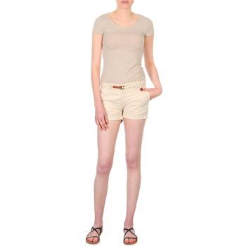 Oblačila Ženske Kratke hlače & Bermuda Franklin & Marshall MACQUARIE Bež