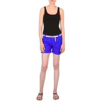 Oblačila Ženske Kratke hlače & Bermuda Franklin & Marshall CALOUNDRA Modra