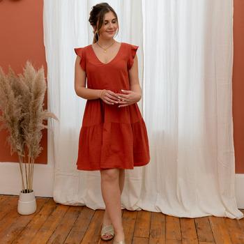 Oblačila Ženske Kratke obleke Céleste DAHLIA Terracotta