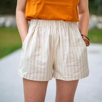 Oblačila Ženske Kratke hlače & Bermuda Céleste CASSIS Bež