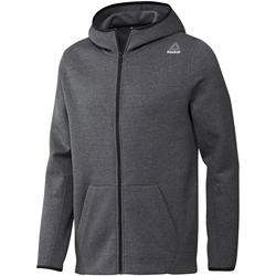 Oblačila Moški Puloverji Reebok Sport Fitness Qc Dk Fz Hood Siva