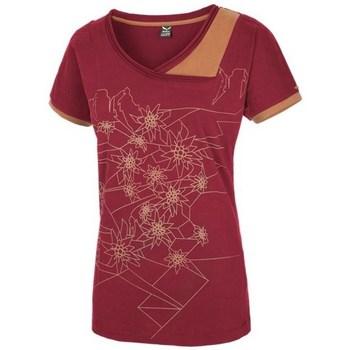Oblačila Ženske Majice s kratkimi rokavi Salewa 251661651 Češnjevo rdeča