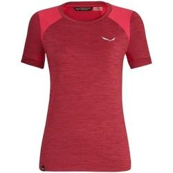 Oblačila Ženske Majice s kratkimi rokavi Salewa 271251830 Češnjevo rdeča