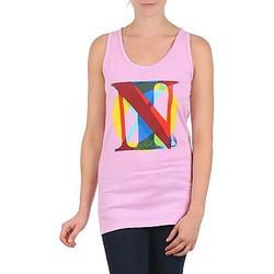 Oblačila Ženske Majice brez rokavov Nixon PACIFIC TANK Rožnata / Večbarvna