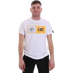 Oblačila Moški Majice s kratkimi rokavi Caterpillar 35CC302 Biely