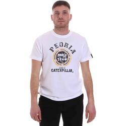 Oblačila Moški Majice s kratkimi rokavi Caterpillar 35CC301 Biely