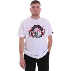 Oblačila Moški Majice s kratkimi rokavi Caterpillar 35CC2510232 Biely