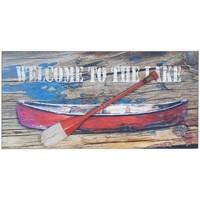 Dom Slike, platna Signes Grimalt Stenska Plošča Čolna Z Veslom Multicolor