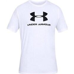 Oblačila Moški Majice s kratkimi rokavi Under Armour Sportstyle Logo Tee Bela