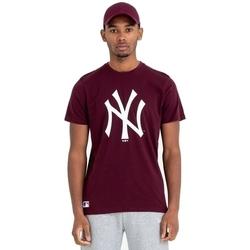 Oblačila Moški Majice s kratkimi rokavi New-Era Team Logo New York Yankees Rjav