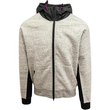 Oblačila Moški Puloverji Converse Mixed Media Full-Zip Hoodie Siva