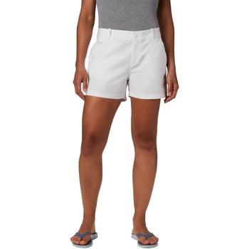 Oblačila Ženske Kratke hlače & Bermuda Columbia Bonehead Stretch Bela