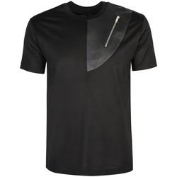 Oblačila Moški Majice s kratkimi rokavi Les Hommes  Črna