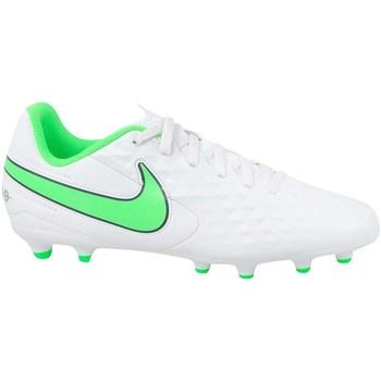 Čevlji  Otroci Nogomet Nike JR Tiempo Legend 8 Club MG Bela, Zelena