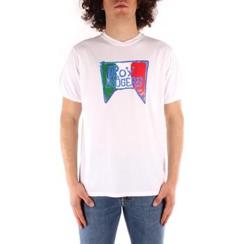 Oblačila Moški Majice s kratkimi rokavi Roy Rogers P21RRU513C7480013 WHITE