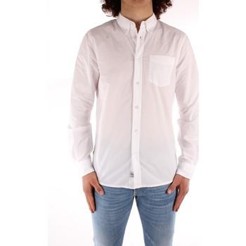 Oblačila Moški Srajce z dolgimi rokavi Blauer 21SBLUS01223 WHITE