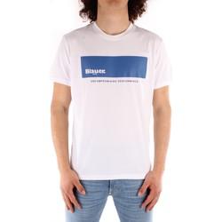 Oblačila Moški Majice s kratkimi rokavi Blauer 21SBLUH02132 WHITE