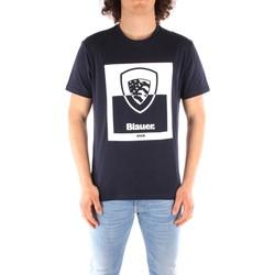 Oblačila Moški Majice s kratkimi rokavi Blauer 21SBLUH02131 BLUE