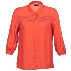 Oblačila Ženske Srajce z dolgimi rokavi Volcom KNOTTY Rdeča