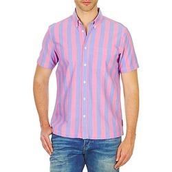 Oblačila Moški Srajce s kratkimi rokavi Ben Sherman BEMA00487S Rožnata / Modra