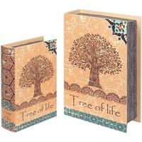 Dom Košare, škatle in košarice Signes Grimalt Škatle Za Knjige 2U Tree Life Book Naranja