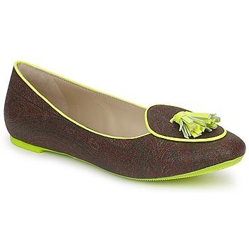 Čevlji  Ženske Balerinke Etro BALLERINE 3738 Kostanjeva