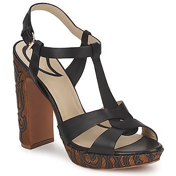 Čevlji  Ženske Sandali & Odprti čevlji Etro NU-PIEDS 3763 Črna