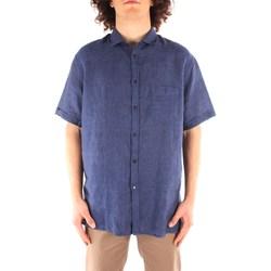 Oblačila Moški Srajce s kratkimi rokavi Trussardi 52C00213 1T002248 NAVY BLUE