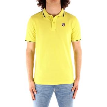 Oblačila Moški Polo majice kratki rokavi Blauer 21SBLUT02272 YELLOW