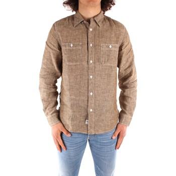 Oblačila Moški Srajce z dolgimi rokavi Blauer 21SBLUS01221 BROWN