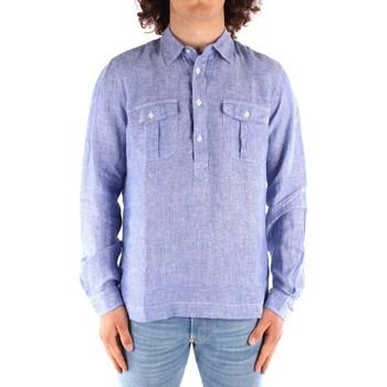 Oblačila Moški Srajce z dolgimi rokavi Blauer 21SBLUS01216 BLUE