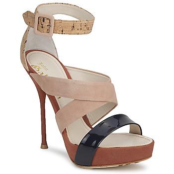 Čevlji  Ženske Sandali & Odprti čevlji John Galliano AN6363 Rožnata / Bež