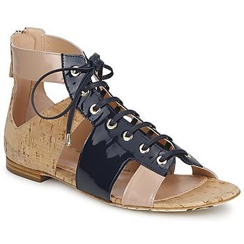 Čevlji  Ženske Sandali & Odprti čevlji John Galliano AN6379 Modra / Bež / Rožnata