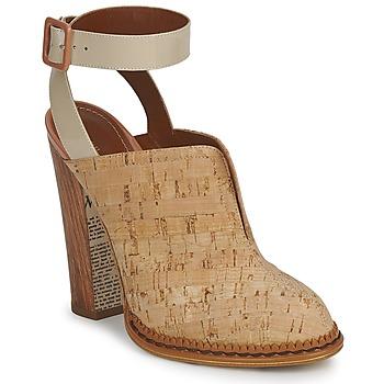 Čevlji  Ženske Cokli John Galliano AN9211 Bež